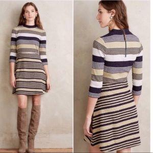 Anthropologie- Striped skater dress